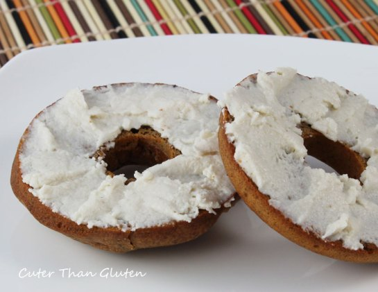 Cream cheese on bagel