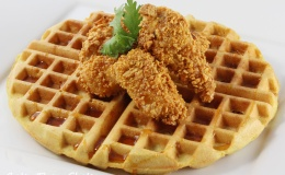 Waffles and Cornflake Chicken Nuggets