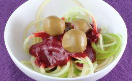 "Dessert ""Spaghetti and Meatballs"" (Vegan)"
